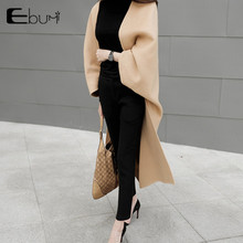 Ultra long fashion cloak woolen outerwear female medium-long double faced loose cashmere woolen overcoat cape over-the-knee