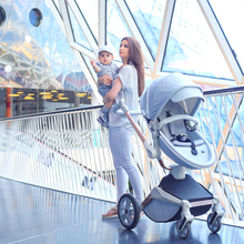 3 in 1 Baby Stroller With Bassinet 360° Rotation Function