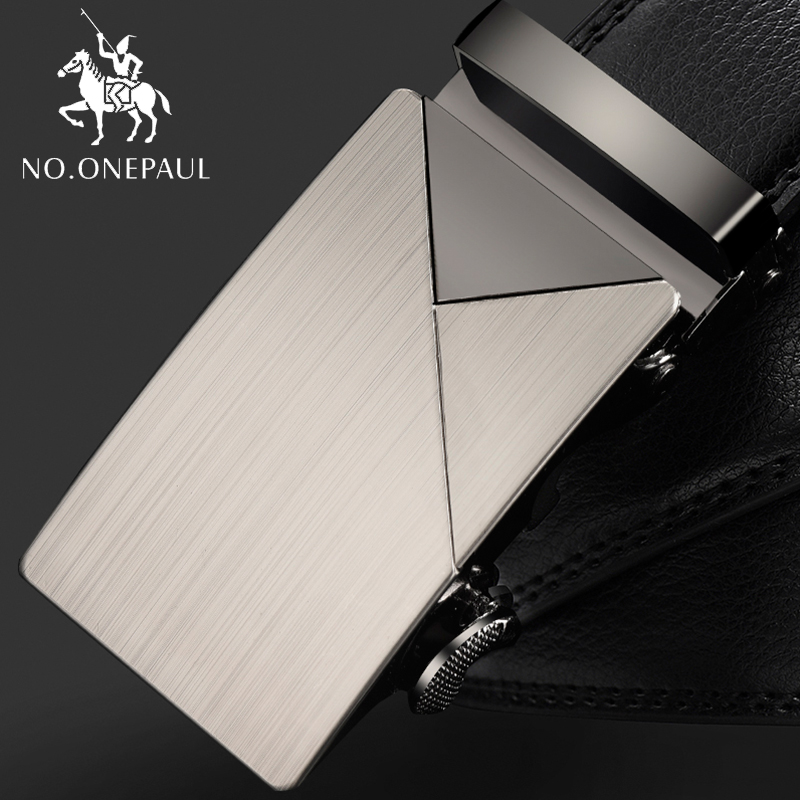 NO.ONEPAUL Fashion Leather Belts For Men Casual Business Men Belt Strap Brand  Belt Genuine Leather Belts Male Automatic Buckle