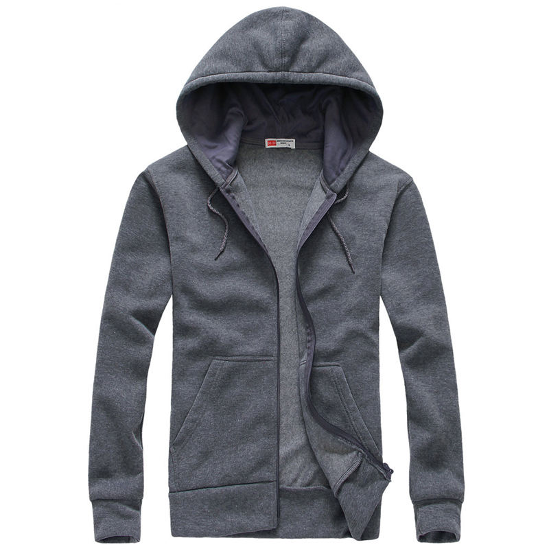 Men Hoodies and Sweatshirts Mens Casual Cotton Hooded cardigan Hoddie Coat hip hop Sportsuit Tracksuit Sweatshirt