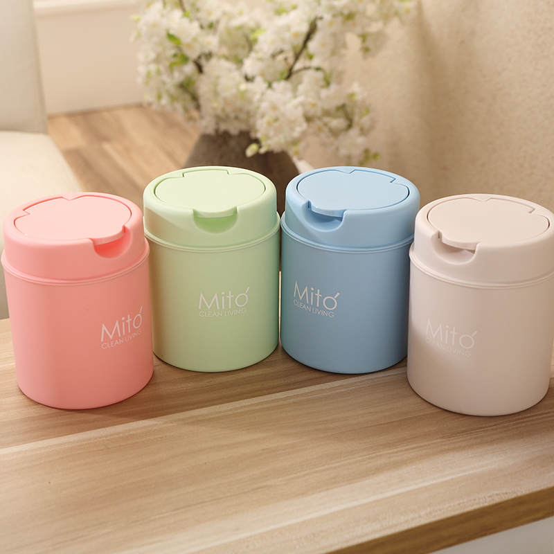 New Plastic Mini Table Dustbin Sundries Barrel Storage Tank Desktop Car Garbage Can Vehicle Trash Can Home Office Waste Bin