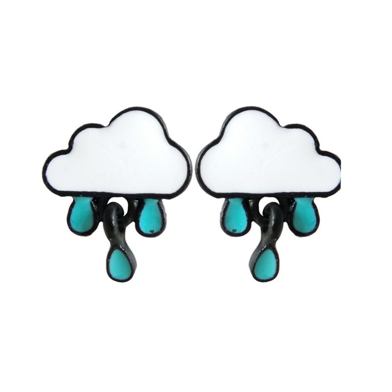 Kawaii Rainy Cloud earrings  1