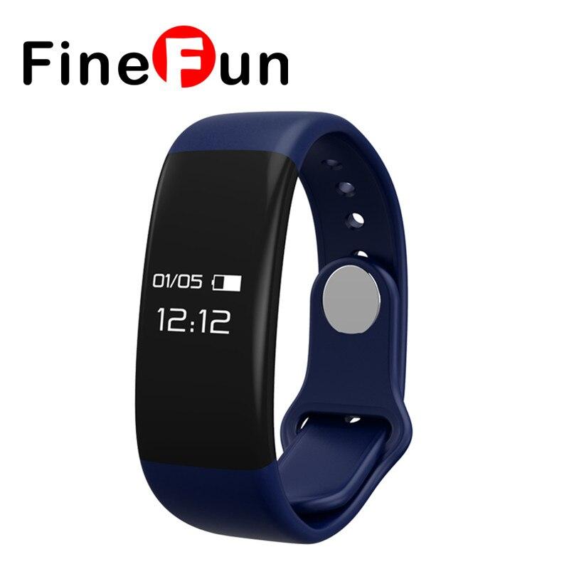 FineFun Waterproof H30 Bluetooth Smart Band Bracelet Heart Rate Monitor Fitness Tracker Smart Wristband For IOS