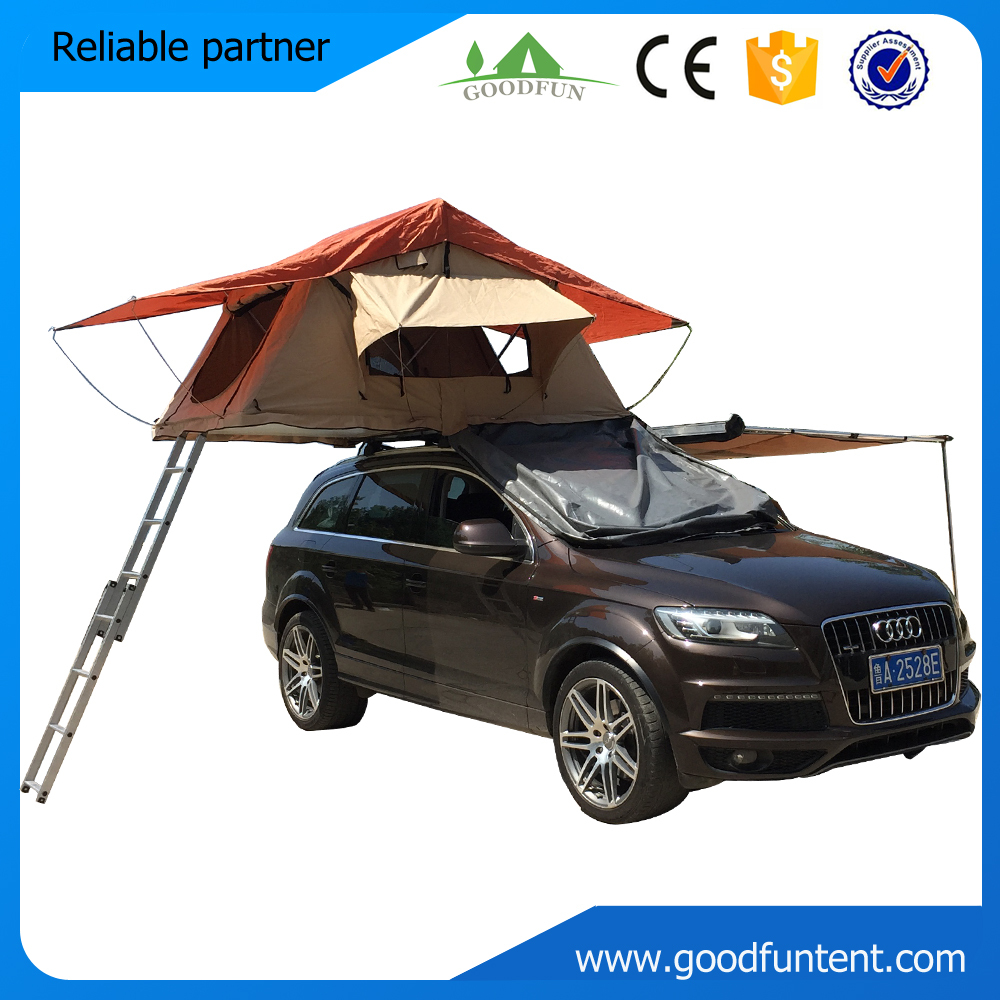 buy 2015 new camping equipment ladder canvas camping car roof tent from