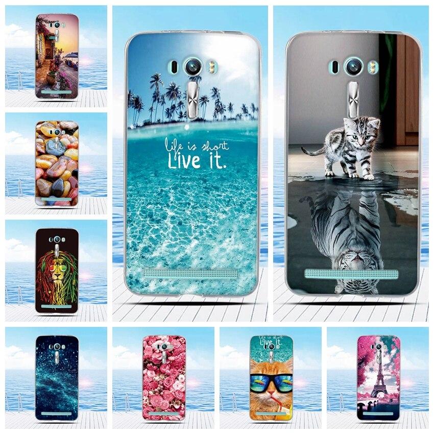 For Asus ZenFone 2 Laser ZE550KL 5 5 Case Cartoon 3D Relief Printing Pattern Back Cover