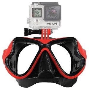 Image 4 - Аксессуары для водных видов спорта, маска для плавания, очки для взрослых, оборудование для дайвинга для GoPro HERO5 HERO4, HERO 5 4 3 2 1