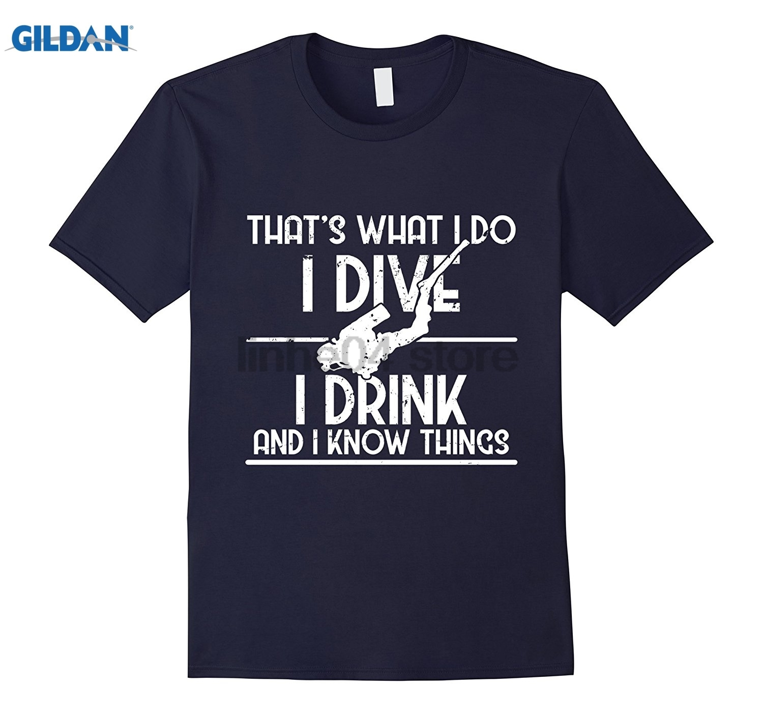GILDAN I Dive I Drink And I Know Things Scuba Gift T-Shirt