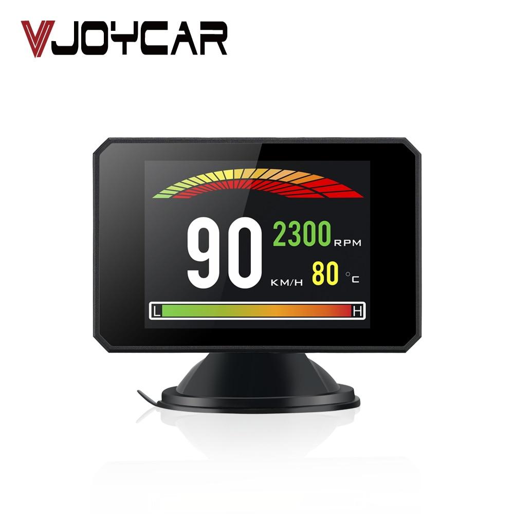 VJOYCAR P16 3,9 ''HD TFT автомобилей Hud Head Up Дисплей бортовой компьютер OBD2 Спидометр турбо-Разгон напорный сигнализации инструмент диагностики