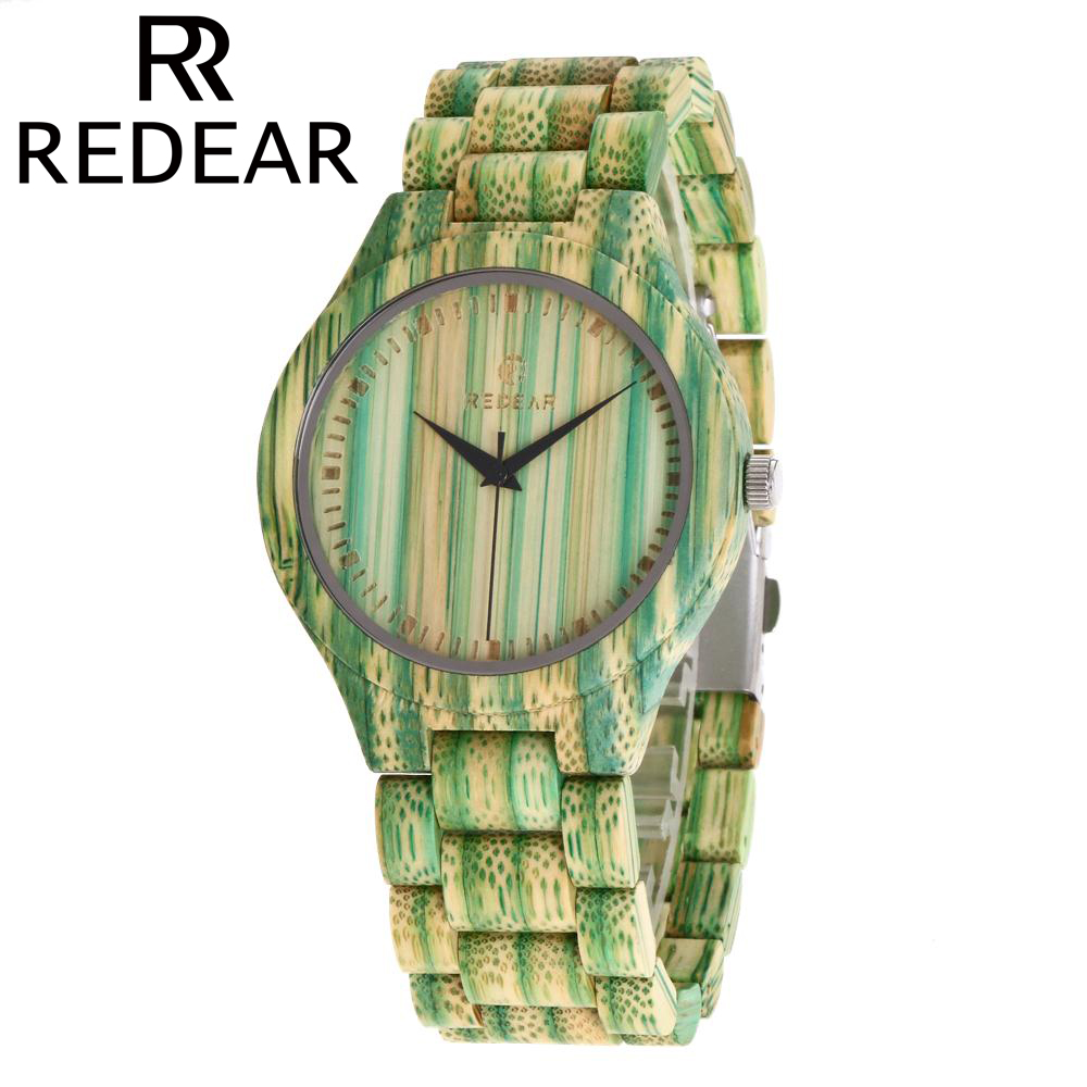 REDEAR Wooden Watch Natural Bamboo Wood Watch Wristwatch Women and Mens Watches Top Brand Luxury Relogio Feminino