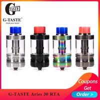 Newest Vape G taste Aries 30 RTA 10ml/6ml Unique screw AFC system Vape Atomzier vs Aromamizer Lite RTA Fit E Cigarette box mod