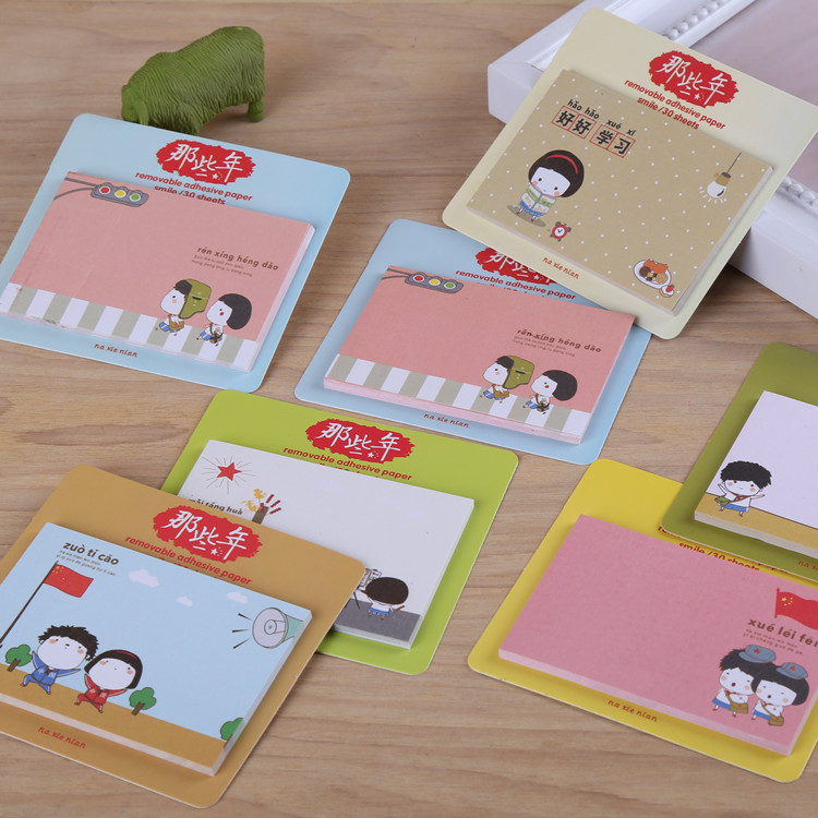 Can Be Sticky Cartoon Notebooks Korean Stationery School Supplies Wholesale Lovely Student Gifts N Times For Wholesale