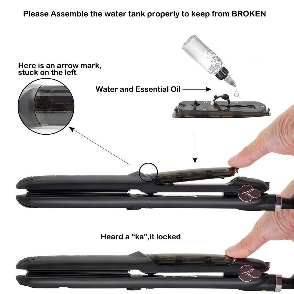 Профессиональный паровой выпрямитель для волос, керамический утюжок для выпрямления волос, утюжок для завивки, паровой прибор для укладки волос 4
