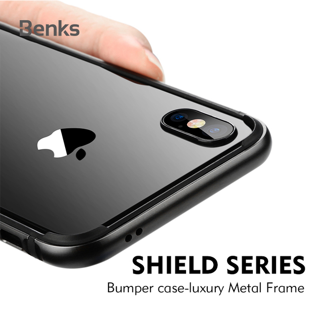 info for 50333 edc1d US $8.6 7% OFF|Banks Luxury Phone Cover For iPhone X Case Bumper Aluminum  TPU Back Drop Border Frame Case Cover For iPhone X Coque Funda Black-in ...