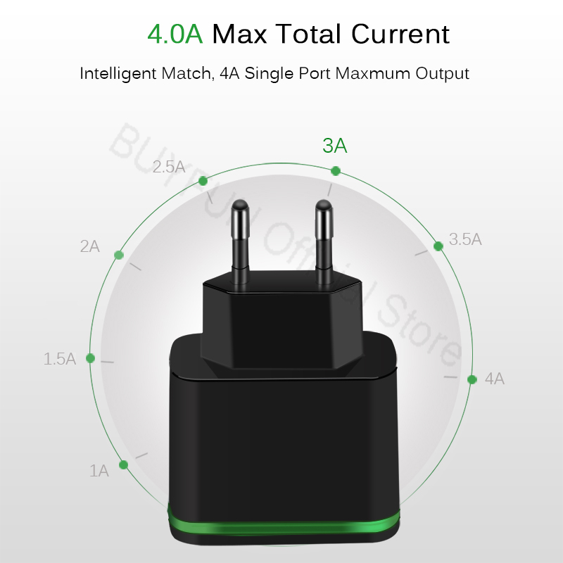 5V/4A Quick Charge Wall Charger Cable Phone Charger Fast Charging Micro-USB Cable For Samsung Xiaomi Android Power Adapter Cord