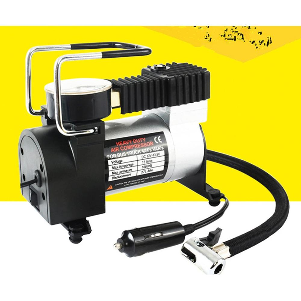 New 12V Portable Auto Car Electric Air Compressor Tire Inflator Pump For Motorbike B Tire Inflator Pump Car Styling