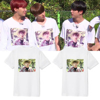 Kpop Home New BTS Bangtan Boys Same Vapp Live JUNG KOOK Brother Complex Printed Short Sleeve