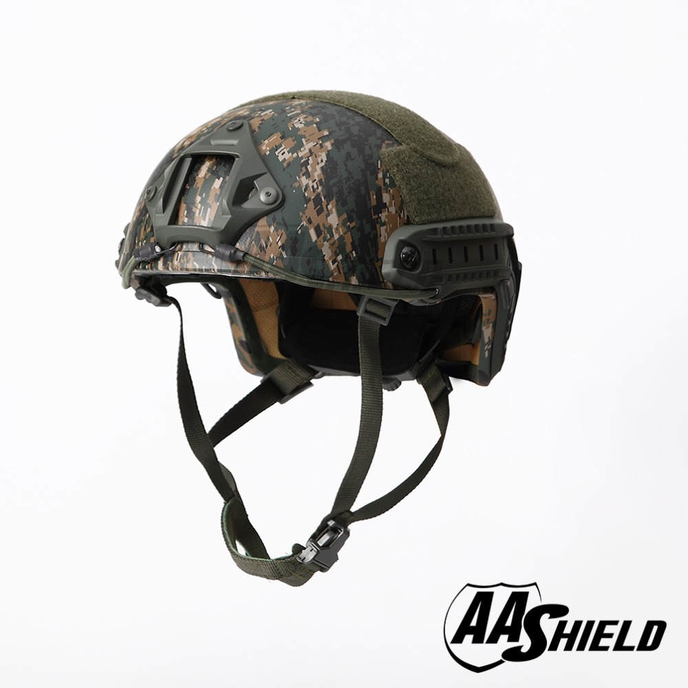 AA Shield Ballistic ACH High Cut Tactical Teijin Helmet Bulletproof FAST Aramid Safety NIJ Level IIIA Military Army AOR 2