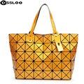 2016 Nueva geometría Bao bao mujeres perla Enrejado de Diamante del bolso de Mano bolso Acolchado saco bolsas de bolsos de las mujeres famosas marcas