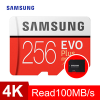 SAMSUNG EVO Plus Class10 Memory Card micro sd 256GB 95MB/s Waterproof TF Memoria Sim Card Trans Mikro Card For smart phone 256gb