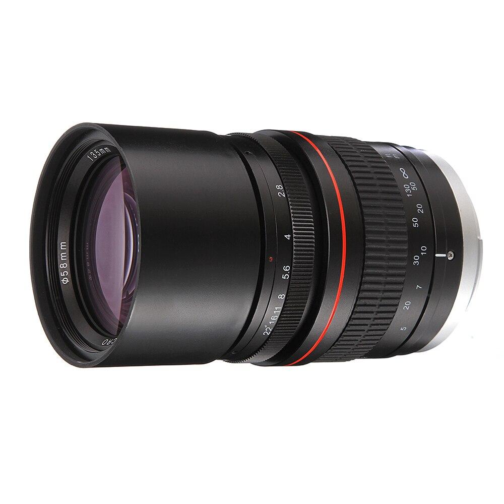 135mm F2.8 Full Frame Foco Manual Telefoto Prime Lens for Canon EOS 6D 6DII 7DII 70D 80D para Nikon d5300 D3400 D500 D600