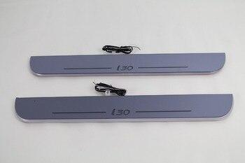 WOOBEST wodoodporny ultracienki akrylowy LED listwa progowa dla Hyundai i30, dioda Led drzwi płyta chroniąca przed zarysowaniem, światło drogi