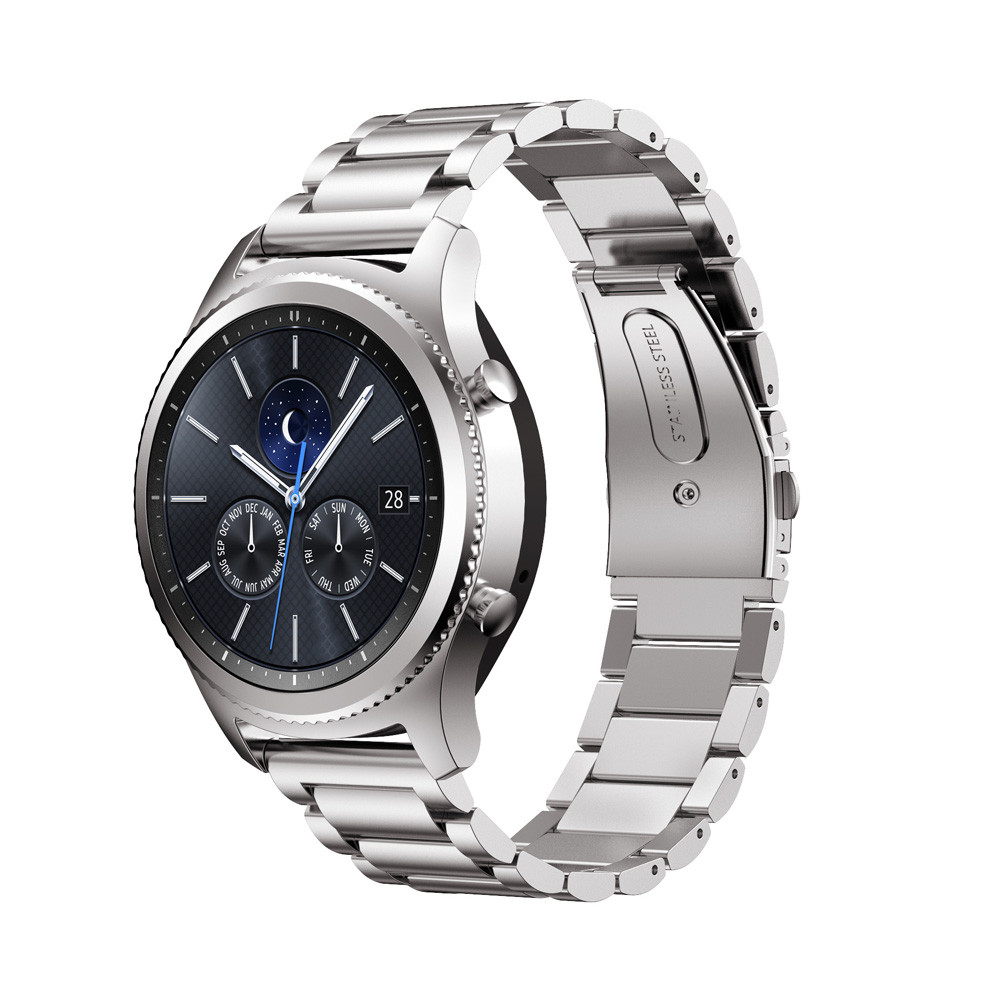 Stainless Steel Watch Band Strap Metal Clasp stainless steel Link bracelet For Samsung Gear S3 Classic black gold Silver 3 points 316l stainless steel link watch band repaclement strap for samsung galaxy gear s2 classic sm r732 bracelet