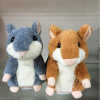 Talking Hamster Mouse Pet Plush Toy For Kids Toy Hot Cute Speak Talking Sound Record Hamster