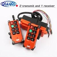 industrial remote controller switches 2 transmitter + 1 receiver Industrial remote control electric hoist F21 E1B Crane MHZ