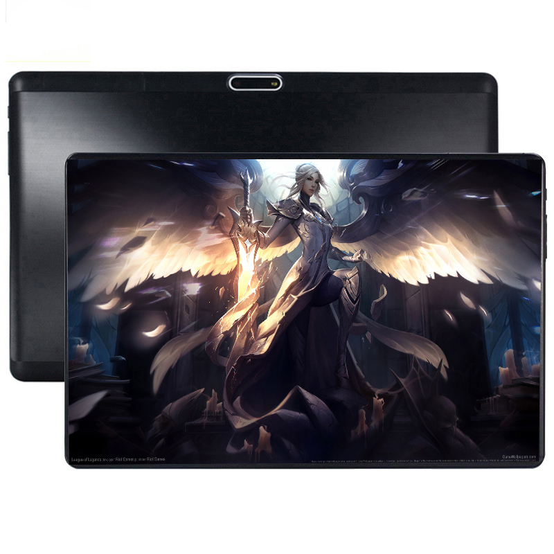 2.5D Glass Screen Tablet 10 Inch Android 9.0 Octa Core 6GB RAM 64GB ROM 3G 4G LTE 1280 800 IPS 5.0MP Dual SIM Card Tablette Pc