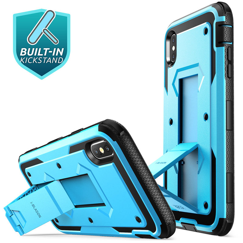 Image 3 - For iphone Xs Max Case i Blason Armorbox Full Body Heavy Duty Shock Reduction Case with Built in Screen Protector & KickstandFitted Cases   -