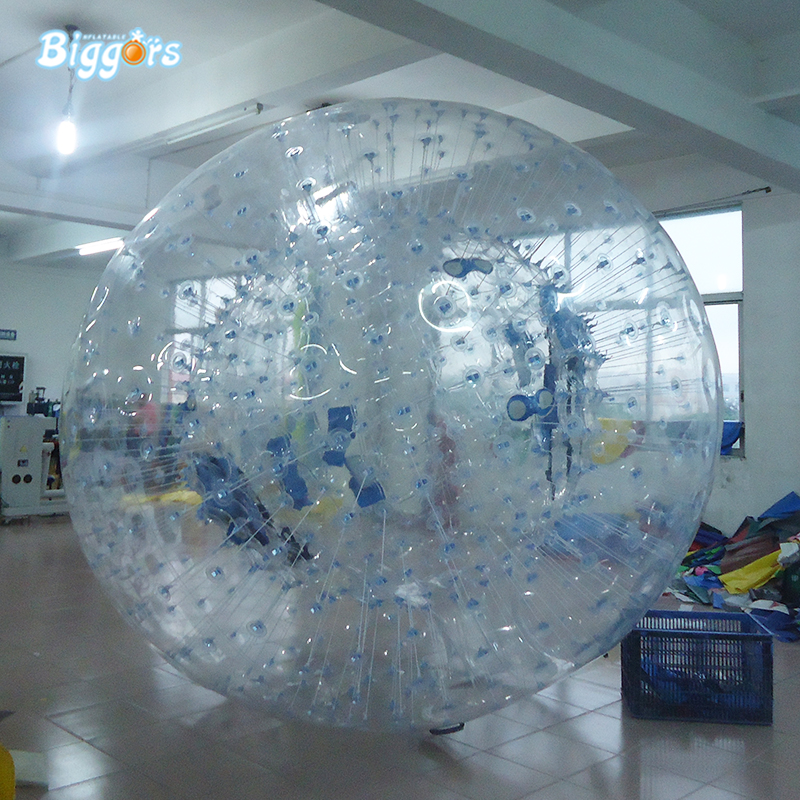inflatable water rolling tube,inflatable water roller walking ball for water park glasslock 450