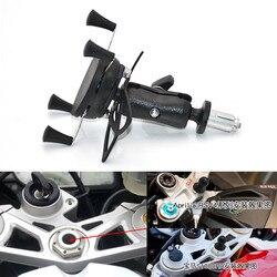 Uchwyt na telefon w widelec macierzystych uchwyt do montażu na motocykl nawigacji uchwyt dla Yamaha YZF R1 2002 2017 R6 2006  2017 R1M 2007 2008 w Elektroniczne akcesoria motocyklowe od Samochody i motocykle na