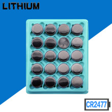цены Free shipping High quality 3V CR2477 1000mAh Lithium Button Coin Battery for watches doorbell Hearing aid calculator 20pcs/lot