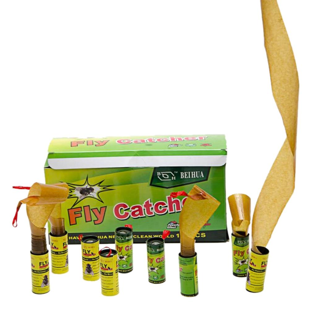 16 рулонов/4 pack насекомых ошибках Fly клей Бумага Catcher ловушка ленты Sticky удовлетворяет Борьба с вредителями