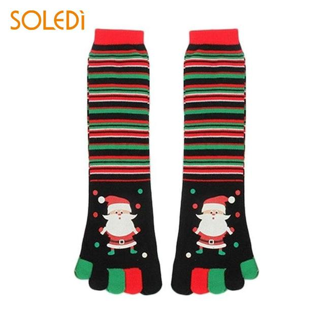 new cartoon funny christmas stocking man colour xmas stock 5 fingers socks drop shipping - Funny Christmas Stockings