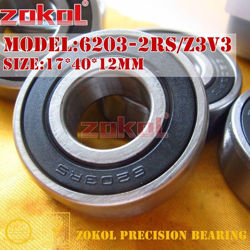 ZOKOL 6203RS bearing 6203 2RS RS Z3V3 180203 Z3V3 Deep Groove ball bearing 17*40*12mm