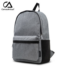Canvasartisan Top Quality Men Canvas Backpacks Leisure Design Large Capacity Male Travel Laptop Business Daily Backpack Bags