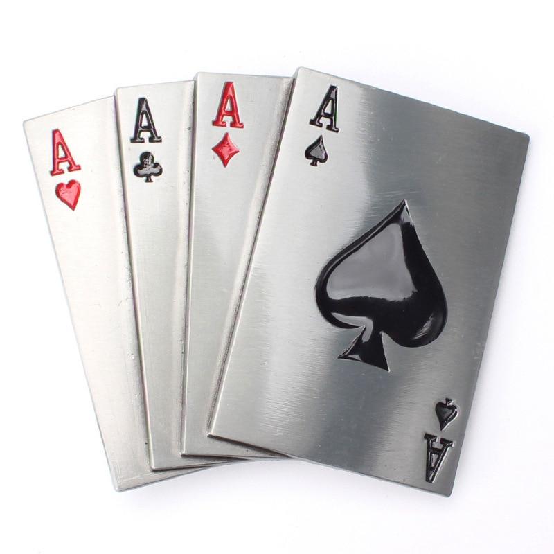 Poker Four 4A  Personality Fashion Belt Buckle Decorative Belt Accessories