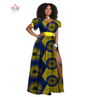 Dashiki Africa Dresses for women Bazin Riche Plus Size 6XL Dresses African Style Design Clothes for Women WY038
