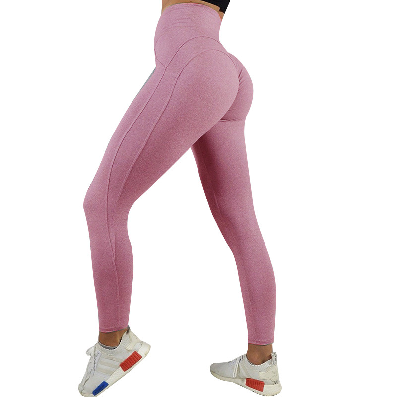Leggings Women Fitness-Pants Workout-Clothing Patchwork Gym Push-Up Sexy High-Waist Breathable title=