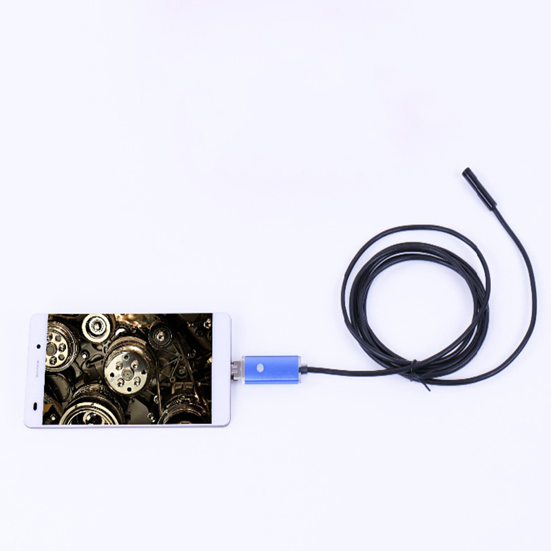 8mm Lens 5M Cable IP67 Waterproof Micro USB Endoscope Portable Camera For Android OTG Mobile Phone 2 IN 1 Flexible Endoscope 2016 new arrival fashion portable mini led selfie flash fill light lamp micro usb for samsung htc huawei android mobile phone