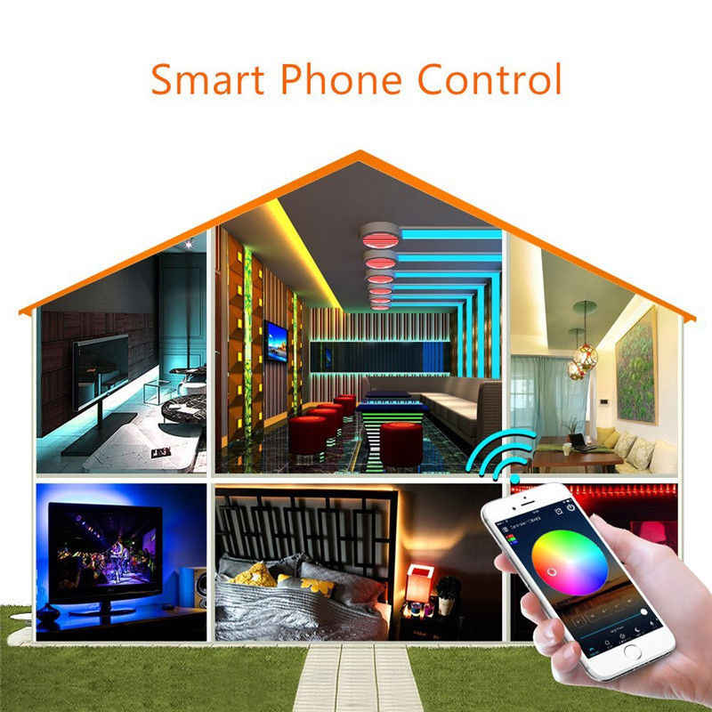 Magic Home IOS Android Alexa Google Music Bluetooth, Wi-Fi пульт дистанционного управления для 5050 RGB RGBW WS2812 WS2811 светодиодный полосы света пикселей
