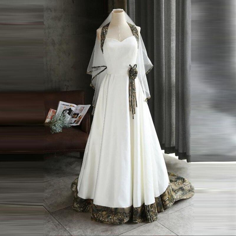 Hochzeitskleid Halte Bridal Dress Off Shoulder Camo