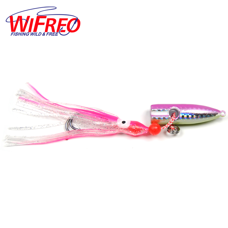 2pcs offshore trolling jigs pink with green belly with for Fishing with jigs