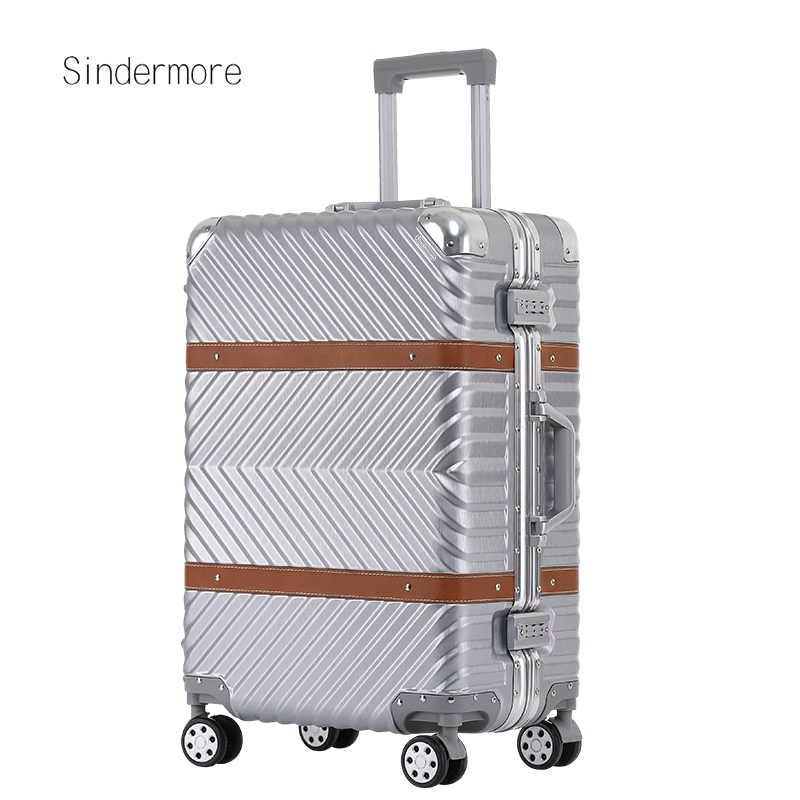sindermore 20 25 29 Aluminum frame PC Twill hardside luggage rolling spinner carry on travel trolley luggage suitcase sindermore aluminum luggage suitcase 20 25 29 carry on luggage hardside rolling luggage travel trolley luggage suitcase
