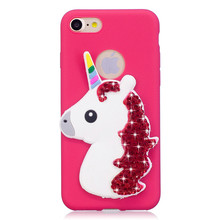 for iphne 7 7plus case Unicorn Diamond soft TPU glitter cases for iphone 5 6 6S 6plus 6Splus Back cover Protective sleeve