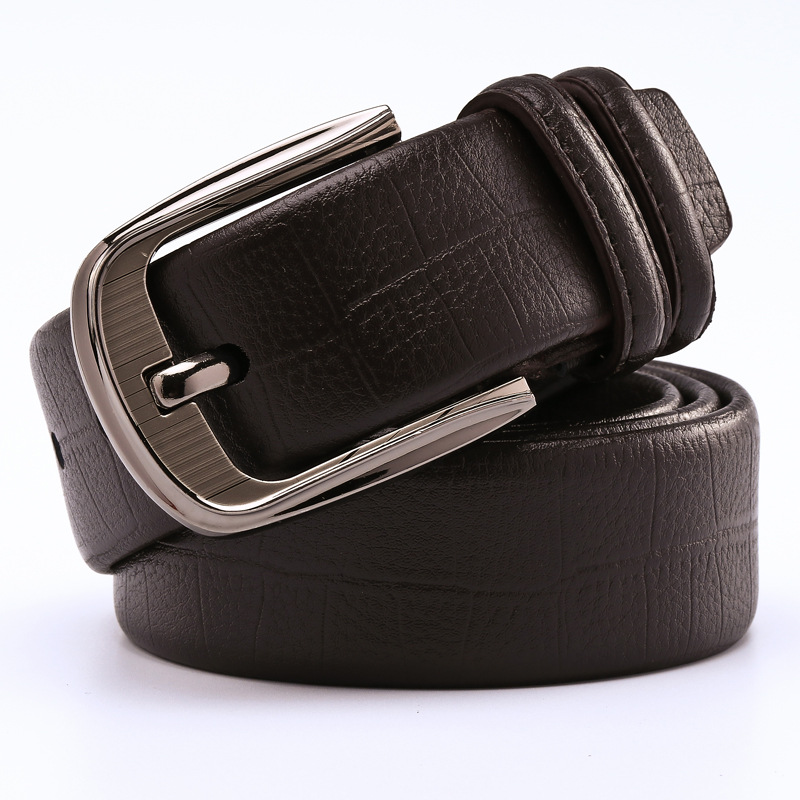 2017 men belts genuine leather and pu male strap fashion designer brand high quality waistband pin metallica buckle/mlb061