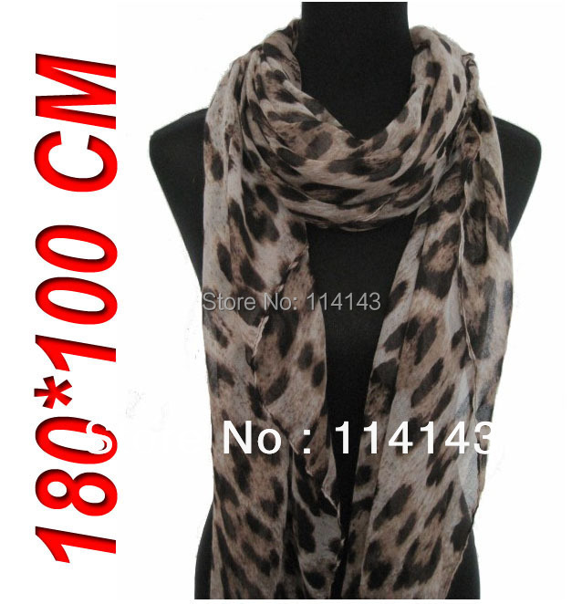 10pcs/lot Celebrity Hot Women's Soft Oversized Leopard Animal Print Scarf Wrap Shawl 180*100cm, Free Shipping