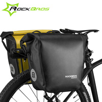 ROCKBROS Waterproof Large Bicycle Bag 10 18L Portable Bike Bag Pannier Rear Rack Tail Seat Trunk