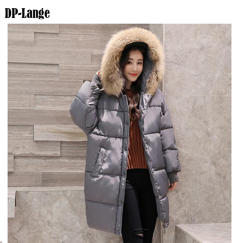 2017 Winter Jacket Women Faux Fur Collar Hooded Cotton Padded Winter Coat Women's Thick Warm Long Parkas Female manteau femme women s thick warm long winter jacket parkas mujer hooded cotton padded coat female manteau femme jassen vrouwen winter mz1954